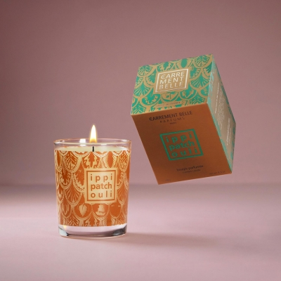 Handmade oriental scented candle