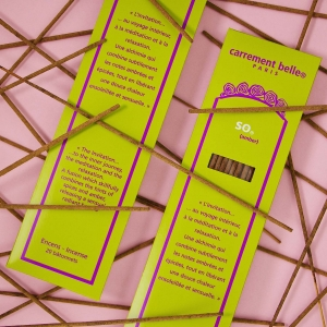 Traditional lavender and coffee incense for home