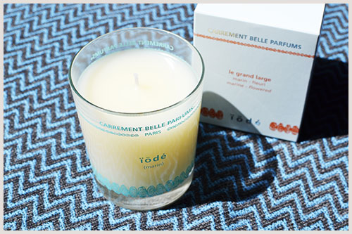 iodé scented candle perfumes your interior with a marine scent