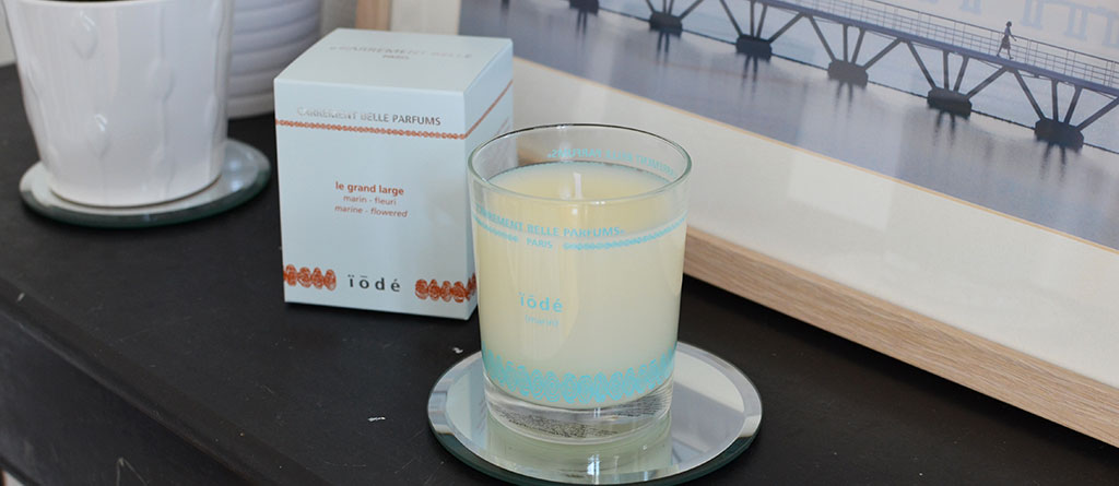 Laury of the blog we wash trash has been overwhelmed by the sea wave of the perfumed iodized candle