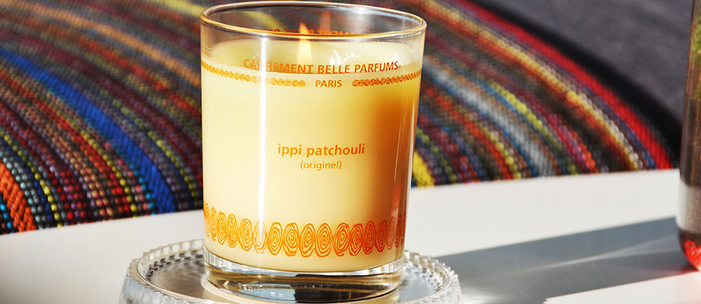 Charlotte 2.0 enjoys our ippi patchouli scented candle
