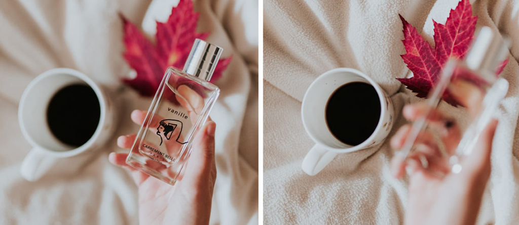 The eau de parfum vanille seduced Florence from the blog la mouette to face the coolness of winter