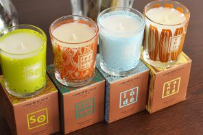 The manufacture of scented candles