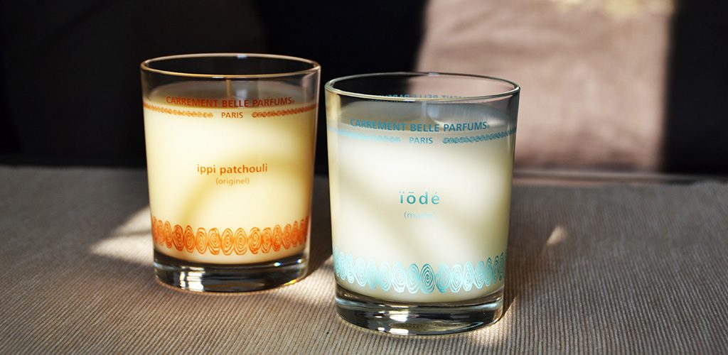 ippi patchouli and iodé, the first Carrément Belle scented candles  were launched in 2014