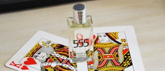 Julie is happy to share her eau de parfum 555 with her beloved one