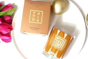 Cocooning atmosphere with the scented candle vanille