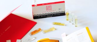 the discovery set, our sample box, reviewed on Oriane's blog